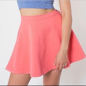 American Apparel circle skirt in coral size S